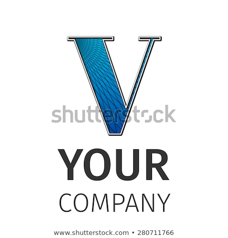 Abstract guilloche Logo, letter-V Stock photo © netkov1