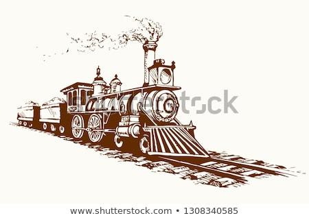 Stazione ferroviaria vecchio diesel treno viaggio Foto d'archivio © goce