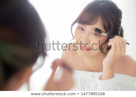 Meisje eyeliner foto kort oog Stockfoto © jordanrusev