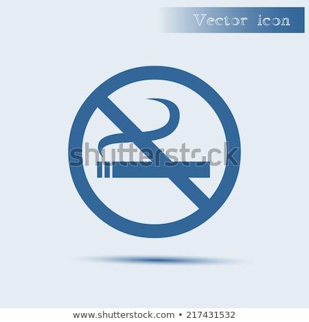 no smoking sign blue vector icon design stock photo © rizwanali3d