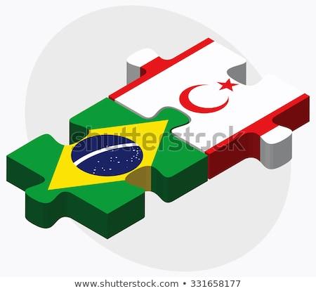 Бразилия турецкий республика север Кипр флагами Сток-фото © Istanbul2009