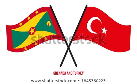 Turkey and Grenada Flag Stock photo © Istanbul2009