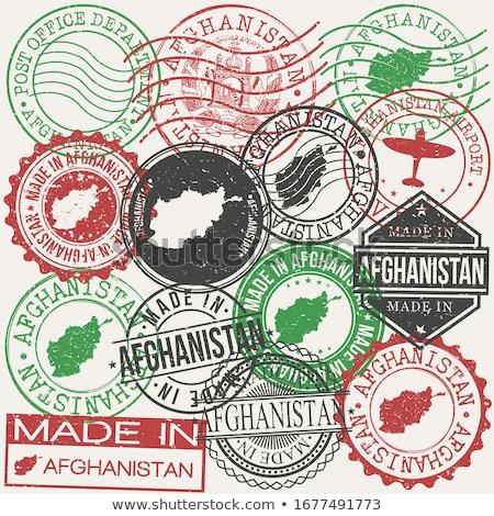 Afeganistão país bandeira mapa forma texto Foto stock © tony4urban