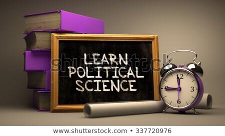 learn political science inspirational quote on chalkboard stock photo © tashatuvango