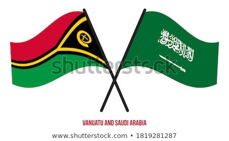 Arábia Saudita Vanuatu bandeiras quebra-cabeça isolado branco Foto stock © Istanbul2009