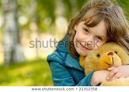 Zabawny piękna dziewczyna gry włosy piękna Zdjęcia stock © deandrobot