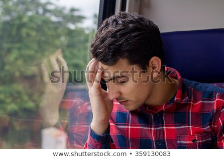 young man in railway wagon Stock photo © Paha_L