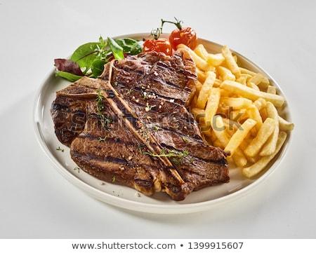 Rustico bistecca rosso carne Belgio Foto d'archivio © zkruger