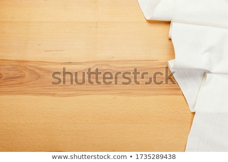 Closeup of a tablecloth made of linen Stock photo © michaklootwijk