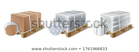 Stretch wrap pallet stock photo © elgusser