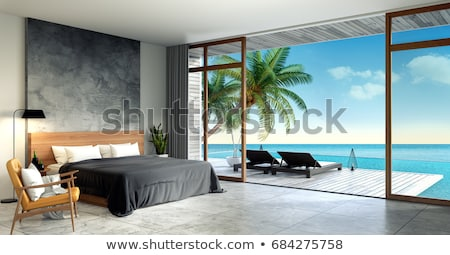 Luxurious bedroom with a terrace Stock photo © jrstock