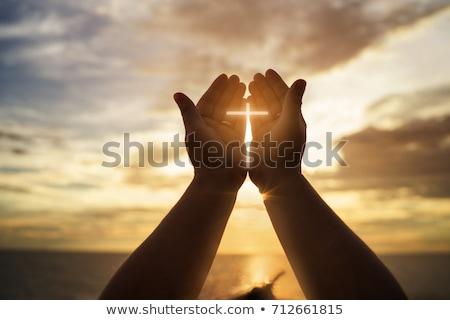 Szellem Jézus Krisztus sétál víz naplemente Stock fotó © rghenry
