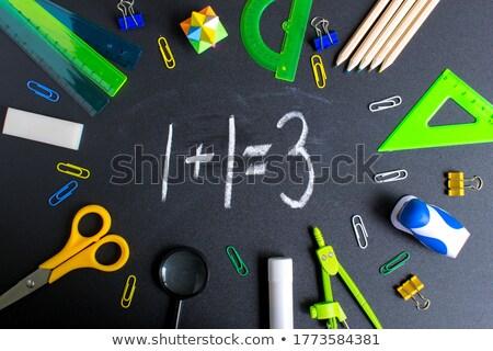 Stockfoto: Leren · marketing · witte · krijt · Blackboard