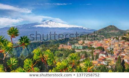 paisagem · vulcão · ilha · sicília · belo · Itália - foto stock © steffus