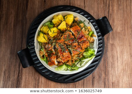 japanese sea eel rice anago don stock photo © zkruger