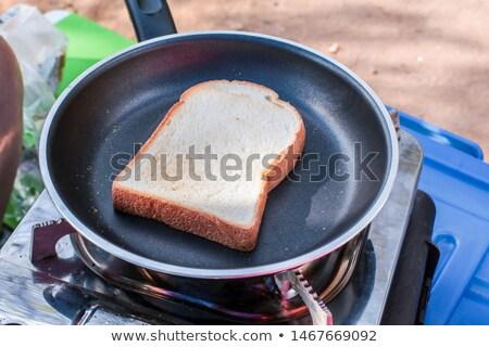 焼いた パン パン スライス フライド 食品 ストックフォト © Digifoodstock