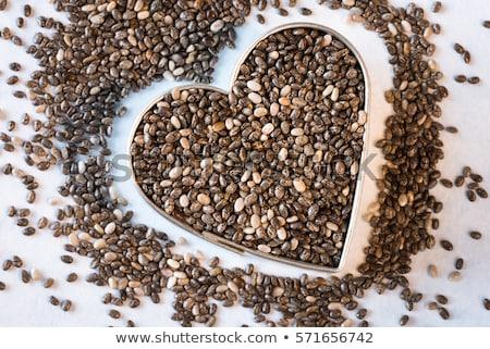 heart chia seeds stock photo © fotoyou