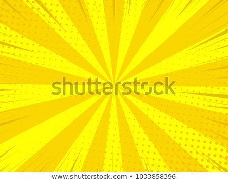 red yellow pop art retro background cartoon lightning blast radi stock photo © studiostoks