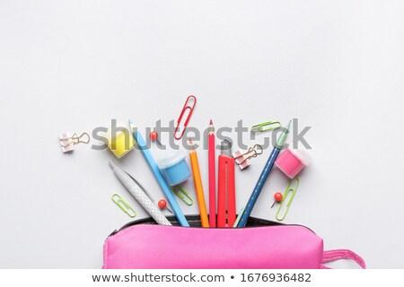 Schoolbenodigdheden licht ruimte papier boek student Stockfoto © zven0