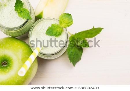 Fitness · zielone jabłko symbol zdjęcia stock