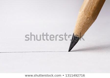 карандашом рисунок линия графит белый страница Сток-фото © frannyanne