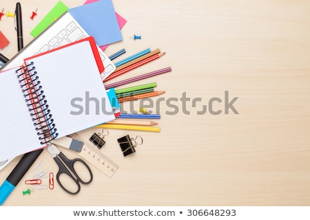 Сток-фото: служба · инструменты · таблице · деревянный · стол · бизнеса · текстуры