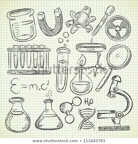 proste · szkic · eksperyment · ilustracja · biały · tle - zdjęcia stock © bluering