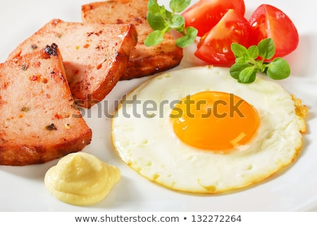 Ensolarado lado para cima ovo frito mostarda carne Foto stock © Digifoodstock