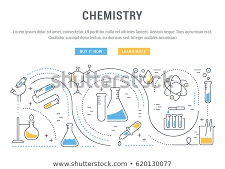 Buttons with laboratory materials Stock photo © bluering