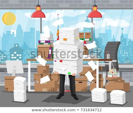 Asia · empresario · pie · documento · negocios · traje - foto stock © rastudio