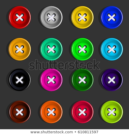 Rounded buttons with shirts Stock photo © bluering