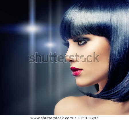 portré · gyönyörű · nő · göndör · haj · este · smink · ékszerek - stock fotó © artfotodima