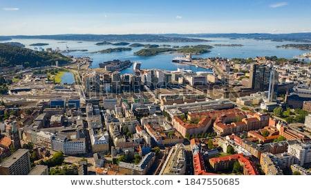 Panorâmico ver moderno edifícios Oslo Noruega Foto stock © vladacanon