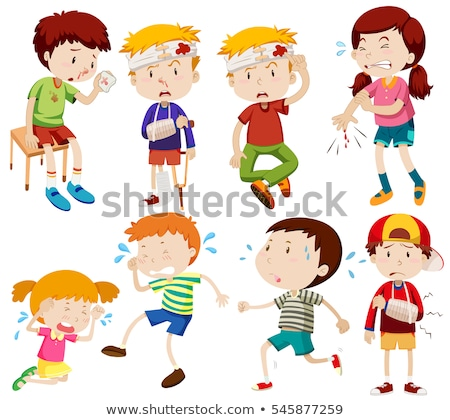 Different kids being sick and getting hurt Stock photo © bluering