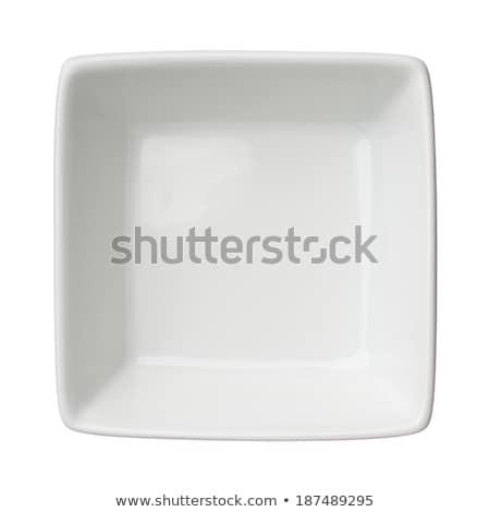 Pequeno praça branco tigela vazio limpar Foto stock © Digifoodstock