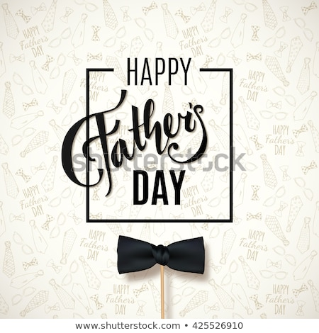 happy fathers day background with stripes Stock photo © SArts