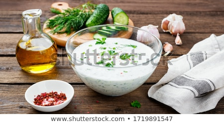 Tzatziki sauce and ingredients. Stock photo © Lana_M