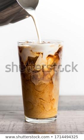 Ijs koffie drinken achtergrond tabel fles Stockfoto © racoolstudio