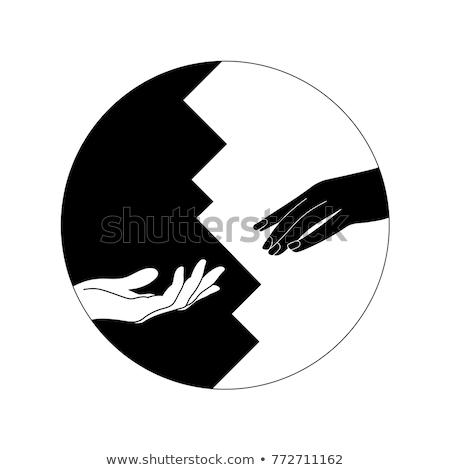 yin · yang · felirat · absztrakt · terv · labda · kínai - stock fotó © adrian_n
