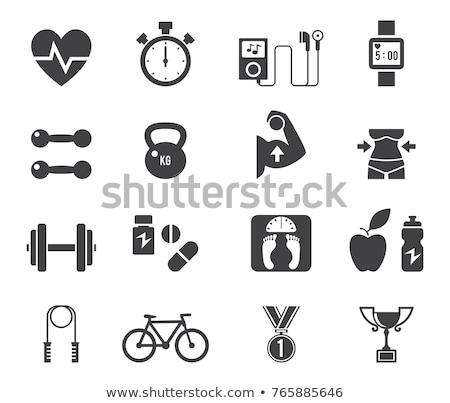Yoga fitness icono diseno aislado ilustración Foto stock © WaD