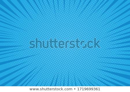Vector Blauw kleur splash retro-stijl ontwerp Stockfoto © fresh_5265954