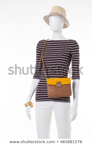 Brown leather bag with two straps Stock photo © bluering