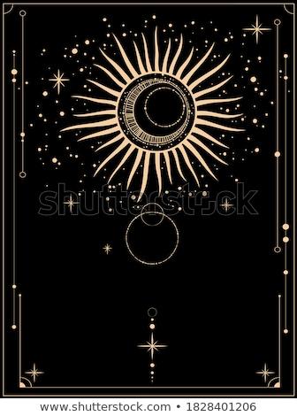 mistik · kart · parlak · süs · Yıldız · dizayn - stok fotoğraf © swillskill