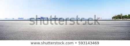 Asfalt weg moderne business stad centrum Stockfoto © vapi