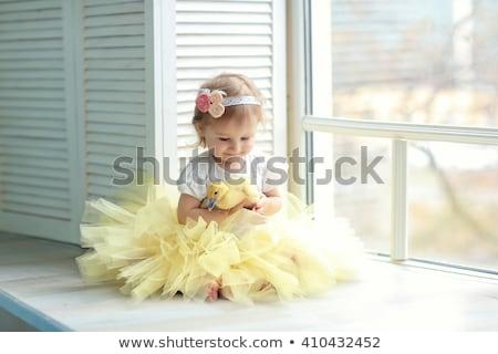 女の子 黄色 スカート 実例 少女 笑顔 ストックフォト © bluering