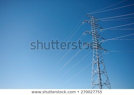 Power lines against the sky at sunset Stock photo © vlad_star