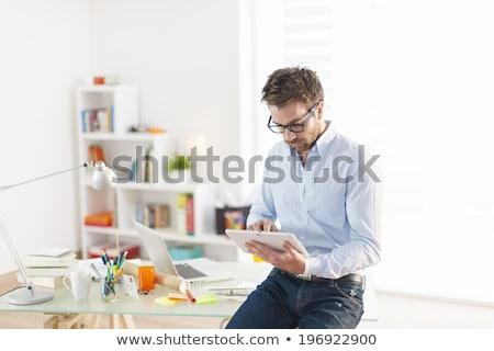 üzletember · digitális · tabletta · kreatív · irodai · asztal · kép - stock fotó © wavebreak_media