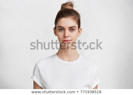 Womans eye and nose against white background Stock photo © wavebreak_media