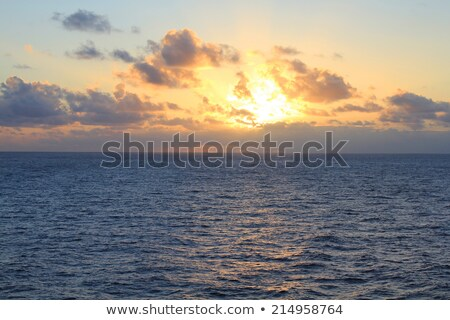 pacific ocean sunset stock photo © yhelfman