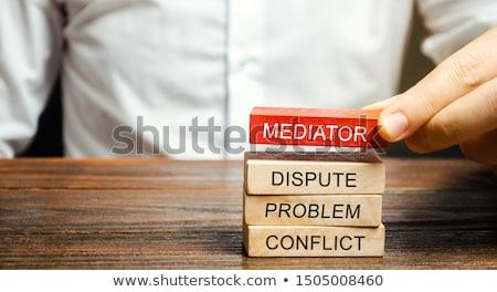 mediación · jurídica · negocios · empresario · abogado - foto stock © lightsource